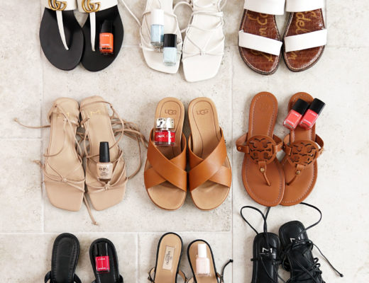 Best Summer Sandals + Nail Polish Colors to Try