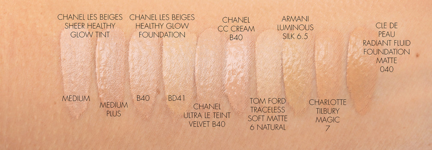 Chanel Foundation Swatches B40