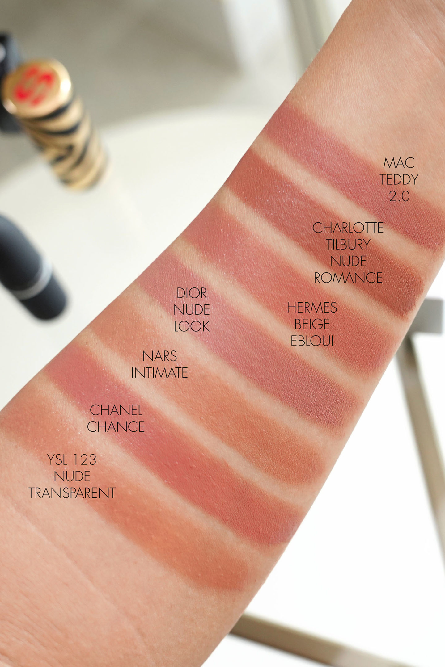 Best Beige Neutral Lipsticks for Spring swatches