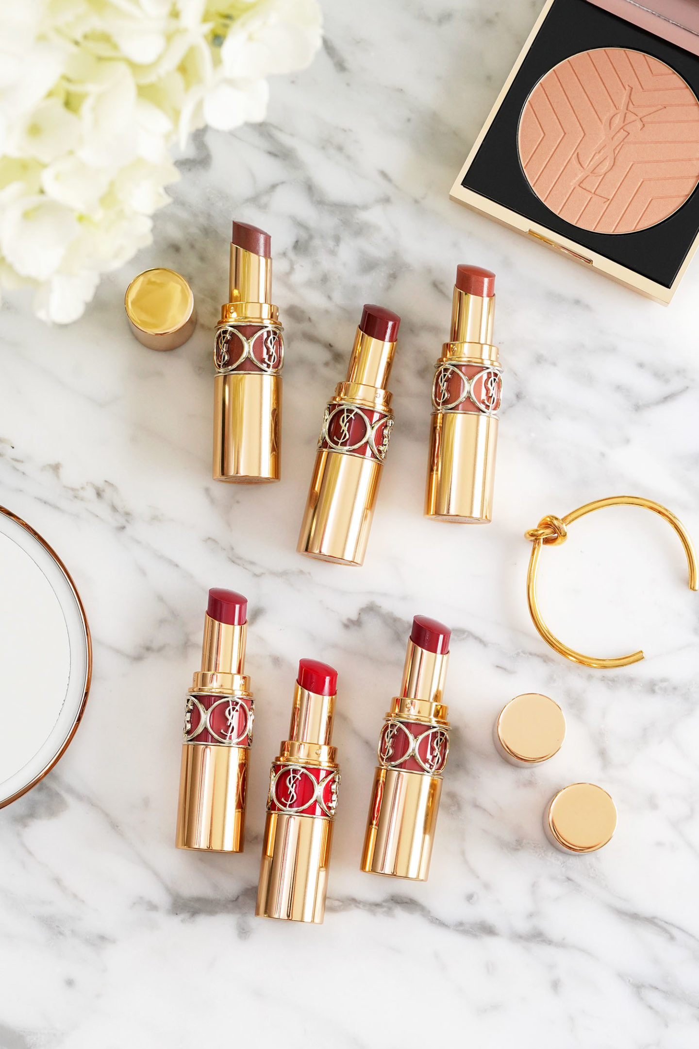 New YSL Rouge Volupte Shine Lipsticks