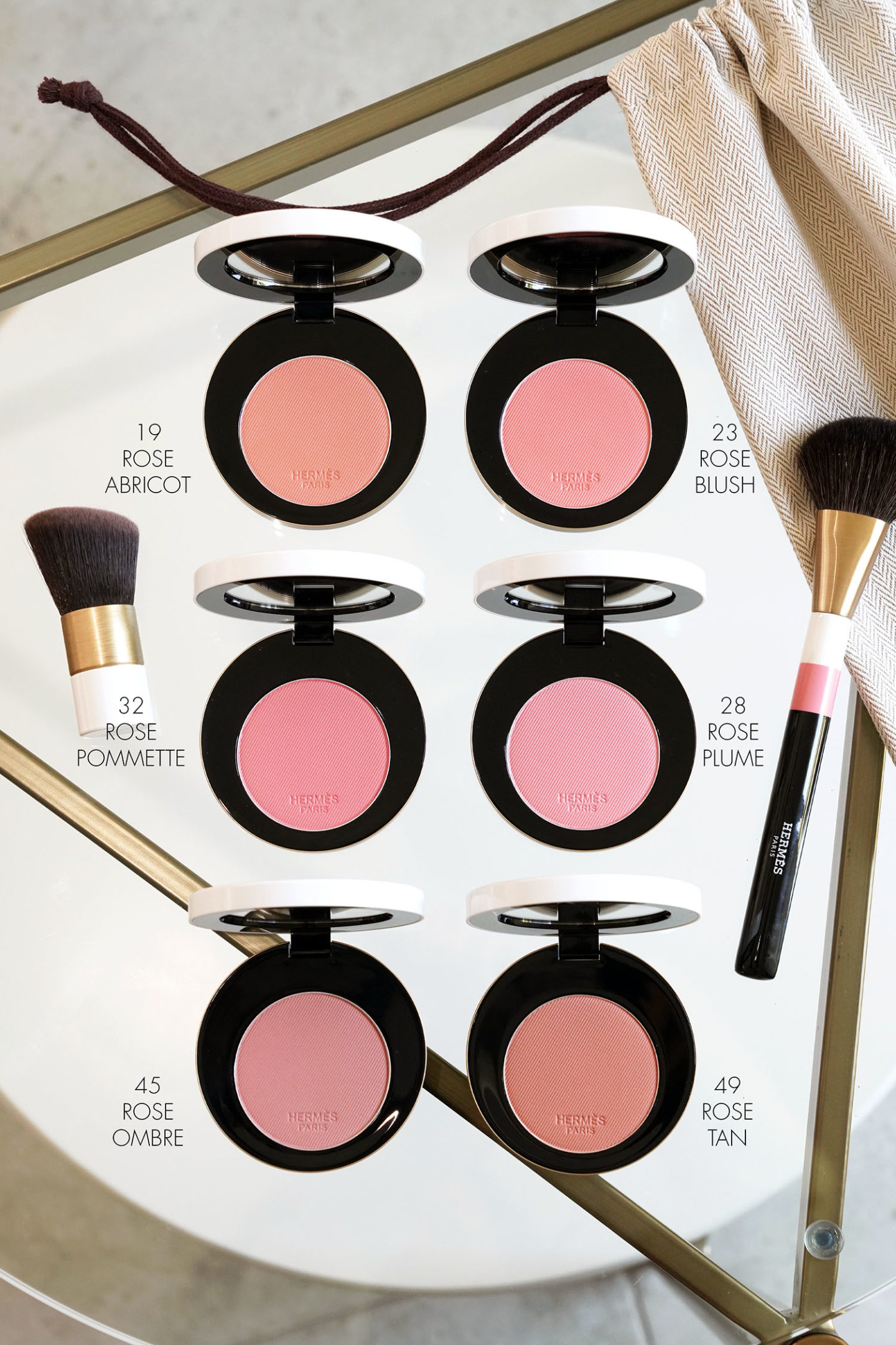Rose Hermes Silky Blush Powder review via The Beauty Lookbook