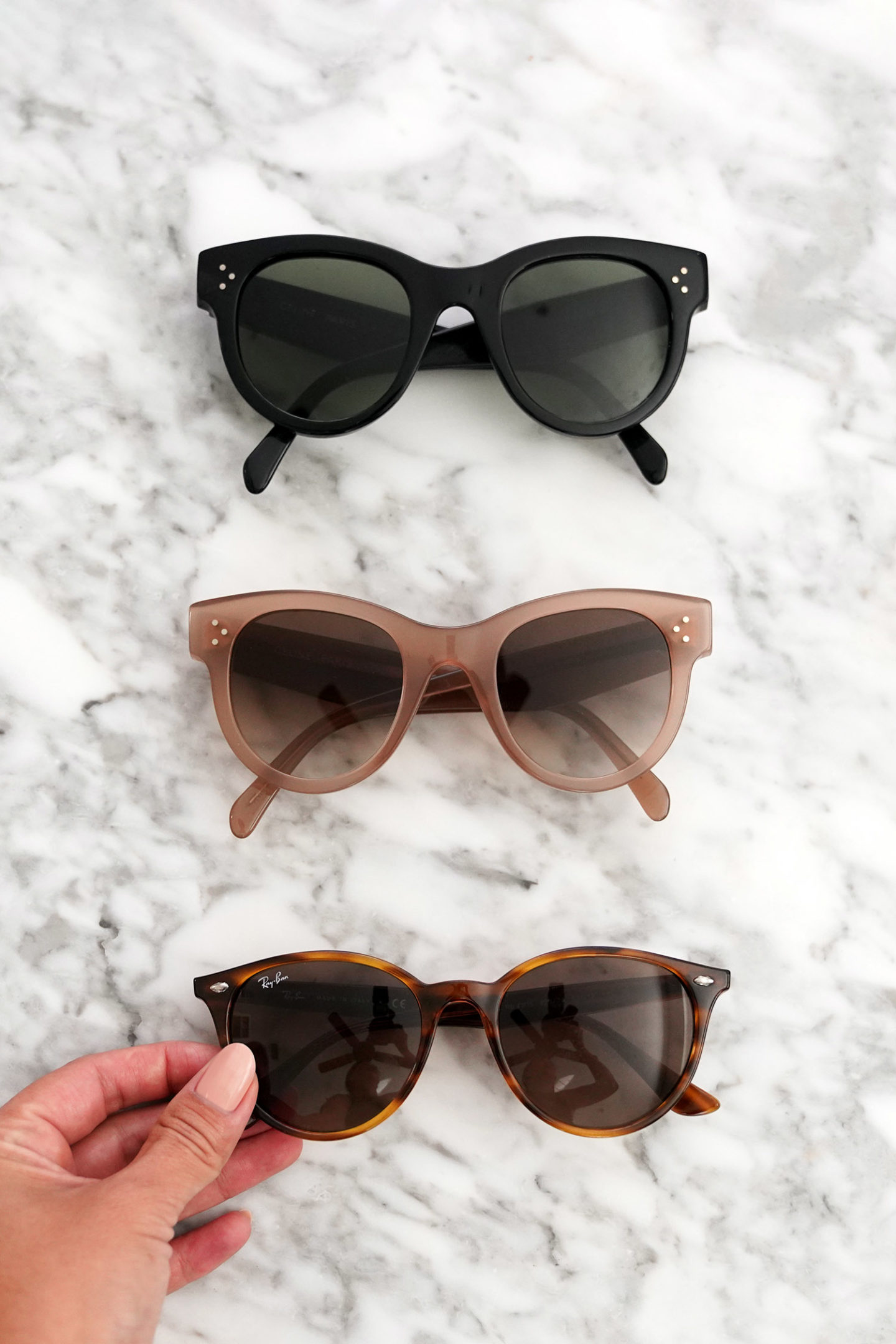 Favorite Sunglasses Celine and Ray-Ban